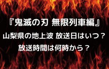 無限列車編の山梨の放送日